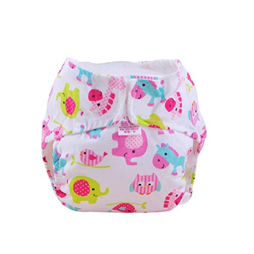 Iuhan® Cute Baby Cotton Training Pants Reusable Infants Nappies Diapers (6-36 Months, C)