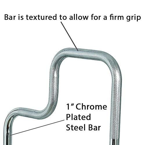 Carex Tri Grip Bathtub Rail With Chrome Finish Bathtub