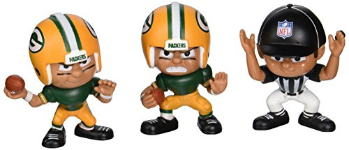 Lil' Teammates 3 Figurine Green Bay Packers NFL Team Set (Pack of 3) ()