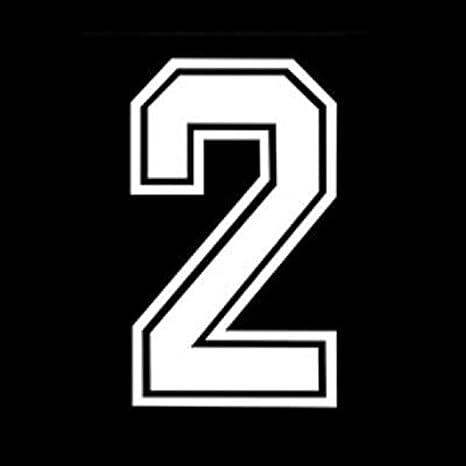 647f114bd03a3 RECHERE Números Iron-on Transferencia de Calor para fútbol béisbol Jersey  Deportes Camiseta Collegiate Fuente Blanco  Amazon.es  Juguetes y juegos