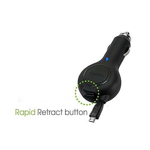 Retractable Car Charger for Amazon Kindle 2
