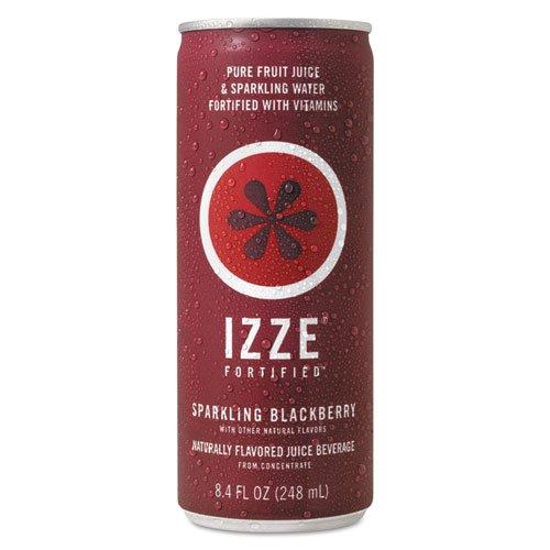 IZZE - Fortified Sparkling Juice, Blackberry, 8.4 oz Can, 24/Carton 15023 (DMi CT (Beatbox Drink Wine)
