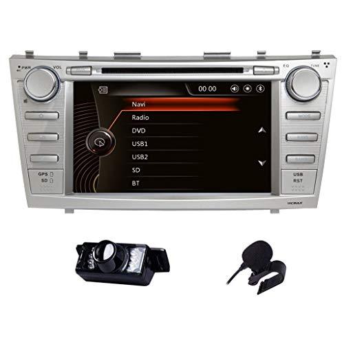 Vicmax Car stereo Toyota Camry 2006-2011 2 Din In Dash Head Unit Car GPS Navigation MAP AM FM Radio DVD CD Player Bluetooth USB SD 3G DVR CAM-IN (Dvr Mpeg4 Video Digital Recorder)
