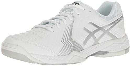 ASICS Men's Gel-Game 6 Tennis Shoe, White/Silver, 9.5 M US