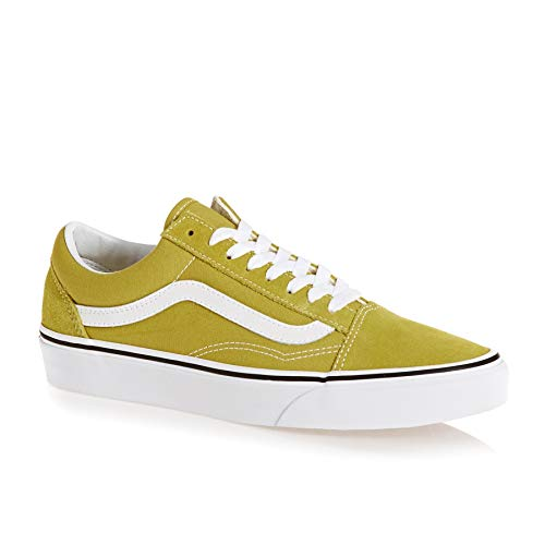 U Unisex Zapatillas Old Skool True Green Adulto Cress Vans White AxRFfqf