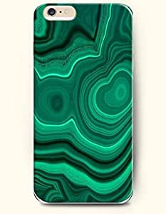 OOFIT Stylish Malachite Pattern Case for Iphone 6 Plus (5.5inch)-Malachite Annual Ring of Woods
