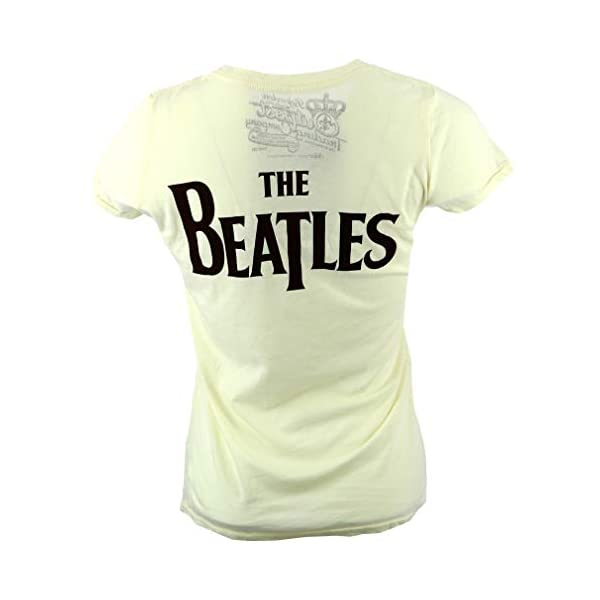 The Beatles Lady Madonna Fab Four Women's Cream T-Shirt Official Licensed Music