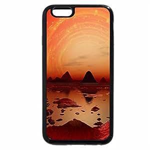 iPhone 6S / iPhone 6 Case (Black) red-vortex-sunset