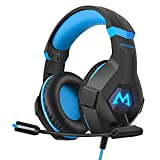 Mpow EG9 Gaming Headset, RGB Light, 3D Surround Sound, Lightweight Computer PS4 Headset with Microphone Noise Canceling, Ultra Durable 3.5mm Gaming Headphones for PS4, PC, Xbox One, Nintendo Switch