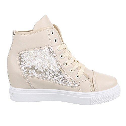 Ital-Design - zapatos de tiempo libre Mujer Beige - beige