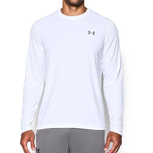 Under Armour Mens ColdGear Infrared Lightweight T-Shirt, White /Steel, Medium