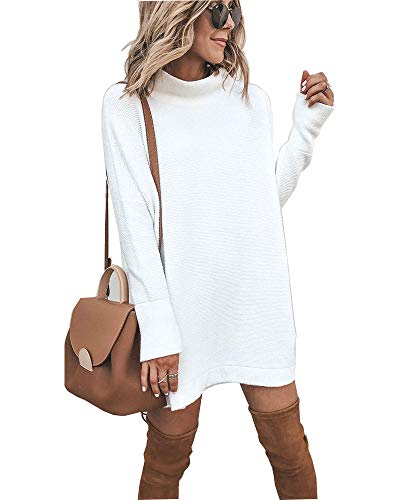 Walant-Robe-Femme-Tops-Pull--Manches-Longues-Col-Rond-Robe-Tunique-Oversize-Haut-Mode-Coupe-Slim-Respirants-Printemps-Automne-Chaud-Blouse-Dress