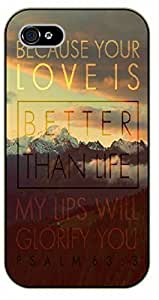 Diy iPhone 6 plus iPhone 6 plus Because your love is better than life. Psalm 6 - black plastic case / Inspirational and motivational, Bible verse, biblical, verses