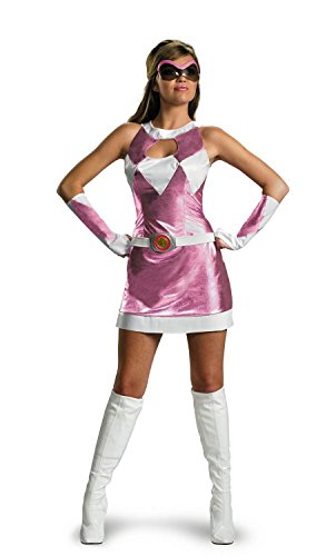 [Pink Ranger Costume - Medium] (Power Rangers Costume 8-9)