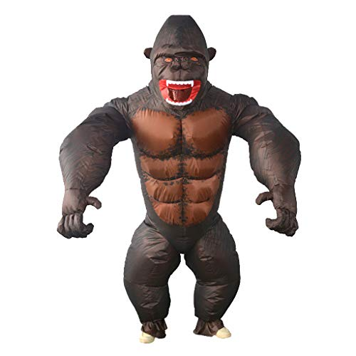 D DOLITY Inflatable Gorilla Costumes Jumpsuit Halloween for sale  Delivered anywhere in Canada