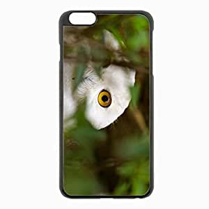 iPhone 6 Plus Black Hardshell Case 5.5inch - owl eyes grass Desin Images Protector Back Cover by mcsharks