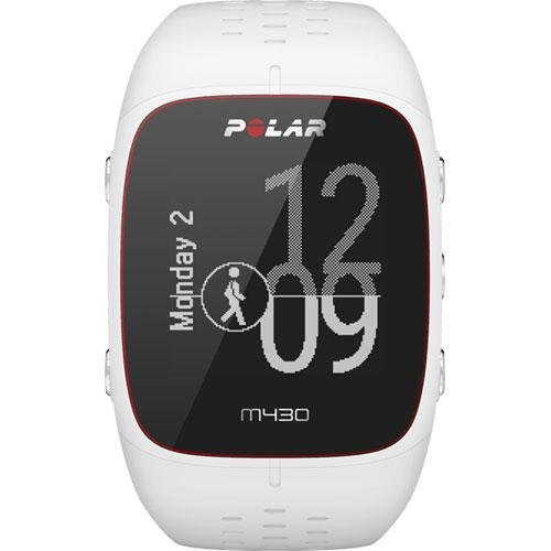 Polar M430 Wrist-Based Heart Rate GPS Running Watch White/Small with Cinch Bag