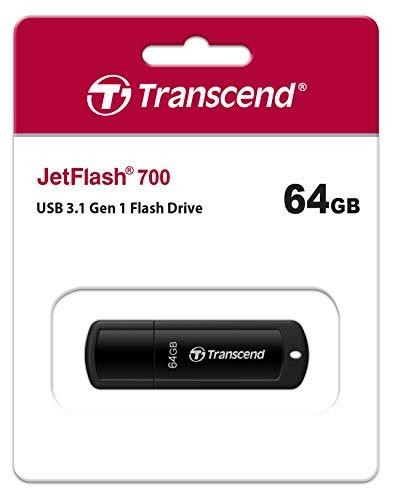 Jetflash 700 Flash Drive - Transcend 64GB JetFlash 700 USB 3.0 Flash Drive (TS64GJF700)