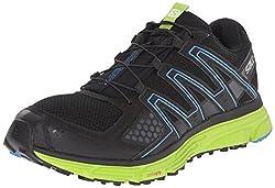 Salomon Men's X-mission 3 Trail Running Shoe, Blackgranny Greenbright Blue, 11 D Us