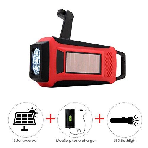 Digital Emergency Radio Solar Hand Crank AM/FM/NOAA LED Flashlight Phone Charger