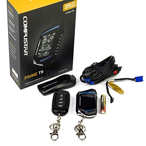 Compustar RF-2WT9FM 2-Way Remote start kit with 4-Button RF LCD 1-way remote, 3000 Ft range and FMX ()
