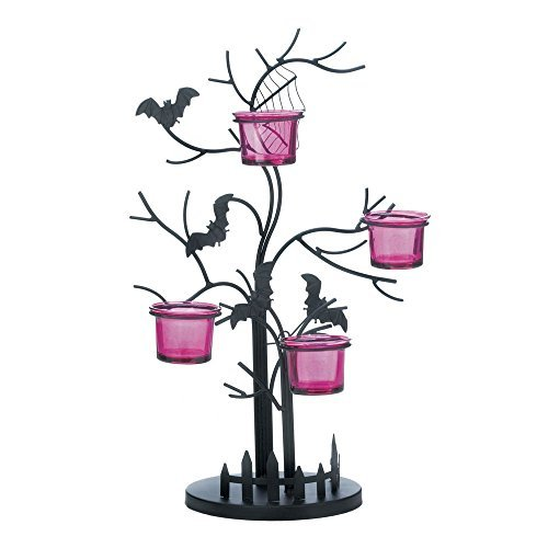 [VERDUGO GIFT CO Eerie Bat Candle Holder] (Halloween Candles)