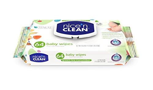 Nice 'n Clean Green Tea & Cucumber Baby Wipes, 64 Count