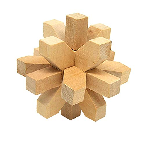 Vintage Wooden Brain Teaser Puzzle 3D Toys Hobbies from ElectronicStorm
