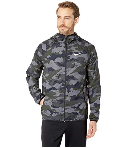 Nike Mens Dry Woven Camo Training Jacket (Dark Grey/White/Medium)