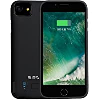 RUNSY iPhone 7 Plus / 6S Plus / 6 Plus Battery Case, 8200mAh Rechargeable Extended Battery Charging Case, External Battery Charger Case, Backup Power Bank Case (5.5 inch)