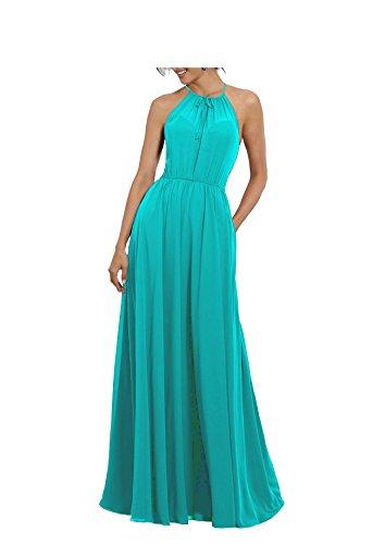 Beauté Pour Femmes De Mariée Élégantes Robes De Demoiselles D'honneur En Mousseline De Soie Avec Aqua Corsage Drapé Doucement
