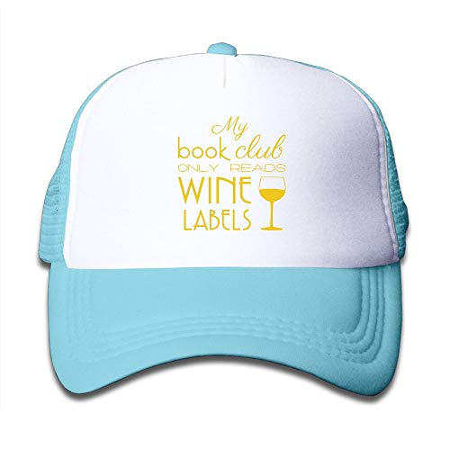 Banana King My Book Club Only Reads Wine Labels Grapes Mesh Hats Baseball Trucker Caps Kids Toddler