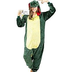 Dinosaur Mens Onesie Pijamas Adulto Plush Mono de una pieza más ropa de dormir tamaño