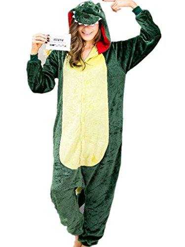 Deguisement Pyjama pour Adulte Vetements de Nuit Dessin Anime Dinosaure Costume,M for Height 63