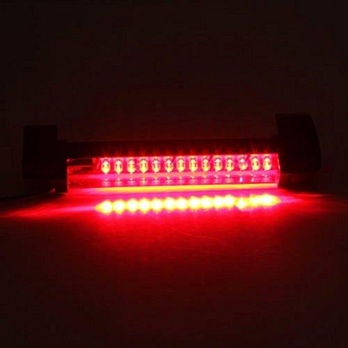 Universal 14-LED Car Rear Window High Mount 3rd Brake Fog Stop Light Assembly Red Tail Lamp Bar