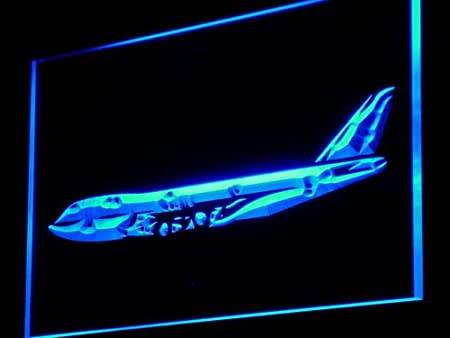 ADVPRO Cartel Luminoso m004-b Aeroplane Airbus Services Shop ...