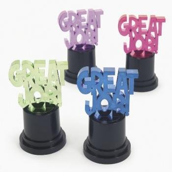 GREAT JOB AWARD TROPHIES (1 DOZEN) - BULK