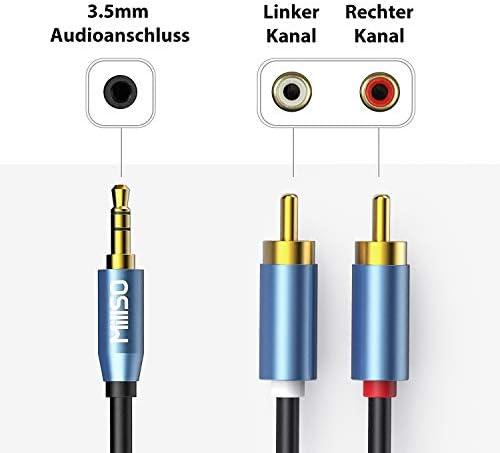 Cable RCA MillSO 3.5mm a 2 RCA macho a macho estéreo Auxiliar de ...