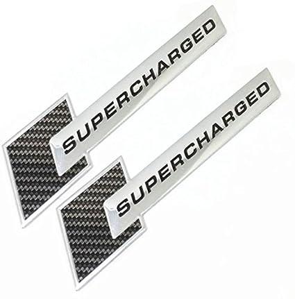 Supercharged Carbon Emblems Chrome Badge Fiber for Audi A1 A3 A4 A5 A6 A7  A8 Q3 Q5 Q7 S4 S5 S6 Tt Decal Emblem Car Sticker 2PC SET