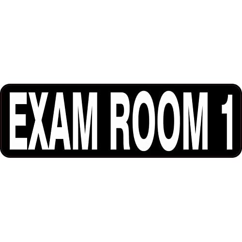 10in x 3in Exam Room 1 Sticker Decal Business Sign Medical Office Sticker free shipping