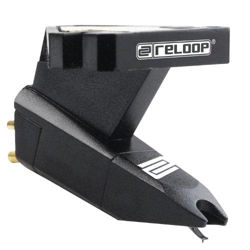 Reloop OM-BLACK Turntable Stylus Cartridge with Headshell Mounting