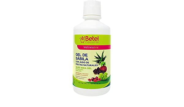 Amazon.com: Gel de Sabila con Frutas by Betel Natural - Aloe Vera Gel with Fruit - 32 Oz: Health & Personal Care