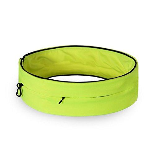 RUNACC Running Belt Waist Pack Large Capacity Jogging Belts with Zipper, Phone Bag