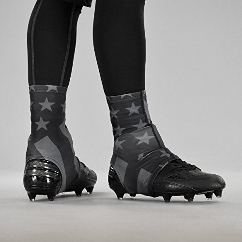 Tactical USA Flag Spats/Cleat Covers (Cam Newton American Flag Cleats For Sale)
