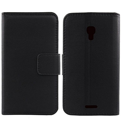 (Gukas Design Genuine Leather Case For Huawei Ascend MATE 2 4G Wallet Premium Flip Protection Cover Skin Pouch With Card Slot (Black))