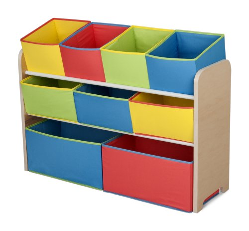 - Delta Children Multi-Color Deluxe Toy Organizer with Storage Bins