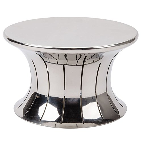 Vollrath 46015 Polished Stainless Steel 5'' Hourglass Buffet Riser by Vollrath