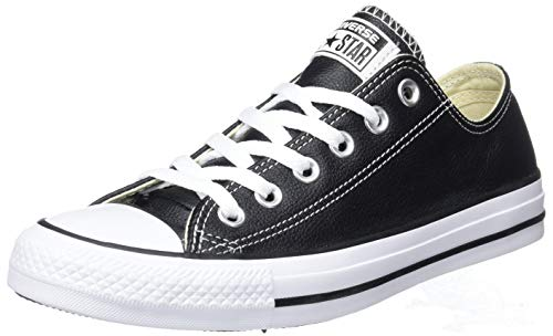 Black Leather Sneaker Converse Star All Chuck Men's Low Taylor Top qfzB1q