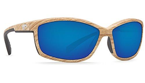 Costa Del Mar Manta 400G Manta, Ashwood Blue Mirror, Blue Mirror