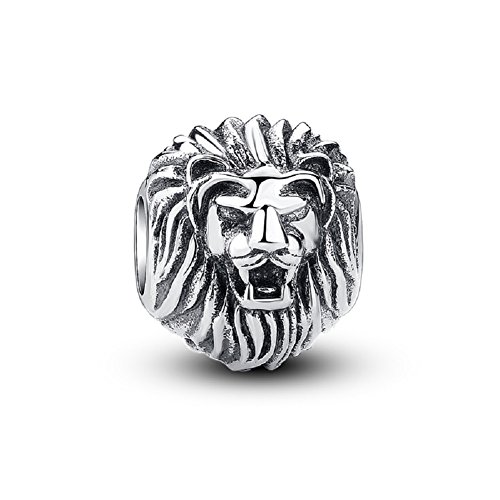 (Glamulet Lion King Charm 925 Sterling Silver Animal Bead DIY Charms Bracelet)